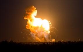 The Orbital Sciences Corporation Antares rocket, Tuesday, Oct. 28, 2014, at NASA's Wallops Flight Facility in Virginia.