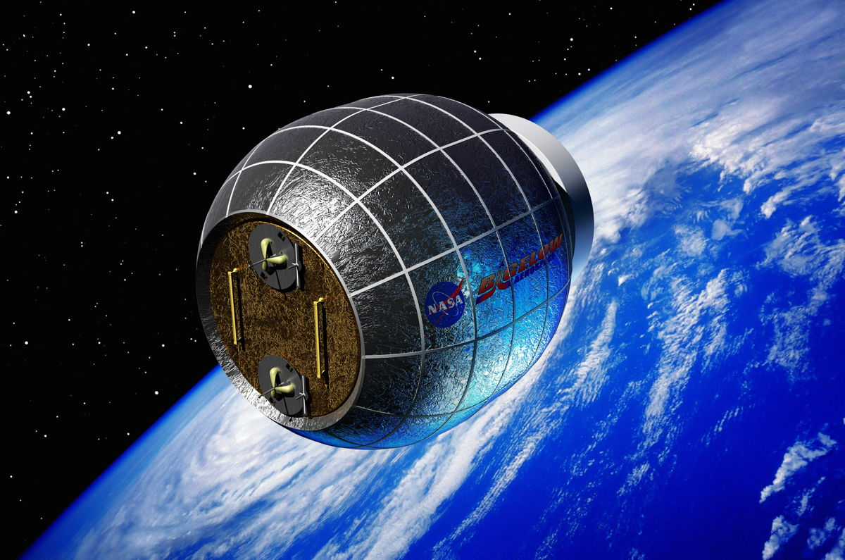 Artist's concept of the Bigelow Expandable Activity Module (BEAM), an inflatable room being added to the ISS in 2015.