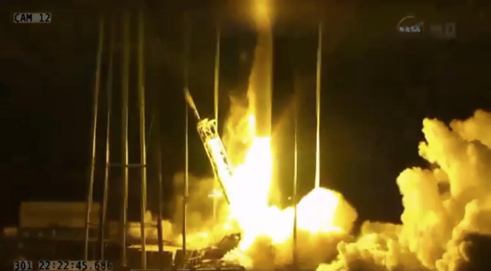 Orbital Sciences Rocket Explosion