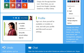 The new Outlook.com app launcher.