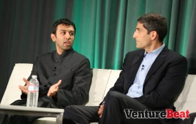 Dipanjan Banerjee and  Pravene Nath of the Stanford University Medical Center speak at VentureBeat's 2014 HealthBeat conference in San Francisco on Oct. 27.