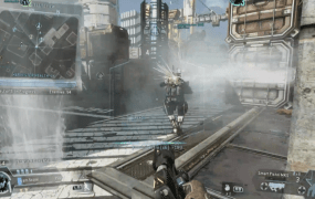 Action in Titanfall's new Frontier Defense mode.