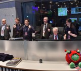 The ESA control room erupts in cheers as separation of Philae from Rosetta is confirmed.