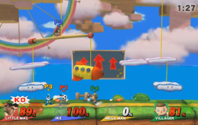 A match of Smash online for the Wii U.
