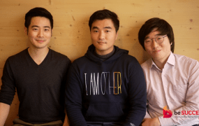 Left to right, CEO Ted Kim, CFO David Suh, CTO Shawn Kim