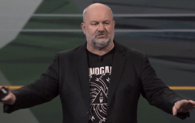 Werner Vogels, Amazon's chief technology officer, announces Lambda at the Amazon Web Services re:Invent conference in Las Vegas on Nov. 13.