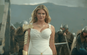 Kate Upton in Game of War: Fire Age ad.