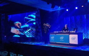 Mix Master Mike works the turntables at Intel Capital's Global Summit, November 4, 2014 in Huntington Beach, California.