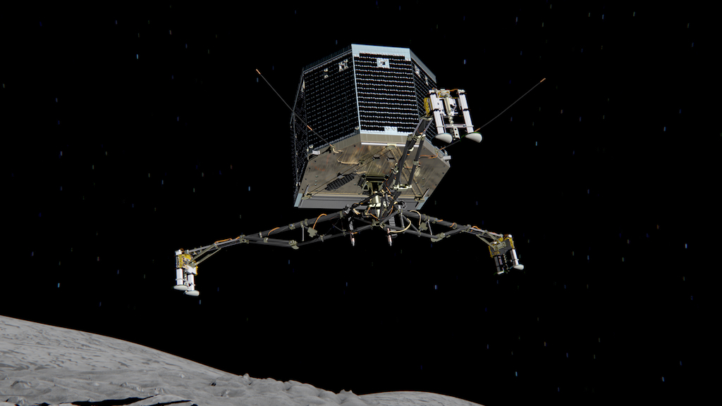 An artist's rendering of the Philae lander.