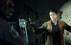 An informant has his hands up in Battlefield Hardline.