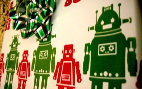 Robot wrapping paper