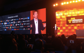 Amazon Web Services senior vice president Andy Jassy speaks at the cloud provider's AWS Summit event in San Francisco in March 2014.