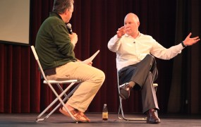 Marc Andreessen [right] is interviewed by Paul Graham.