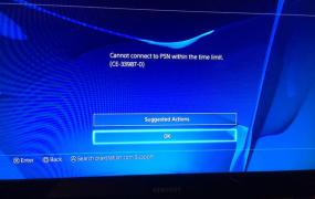 PlayStation Network is timing out when it tries to connect people's PS4s.
