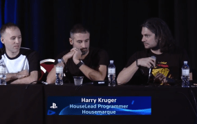 "Massimo Guarini and Harry Kruger on the ""Generation 8 -- A New Golden Age!"" panel at PlayStation Experience."