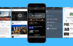 Screenshots of Vimeo's new mobile site overhaul.
