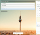 The Wunderlist app on desktop. That's the Fernsehturm in Berlin, isn't it?