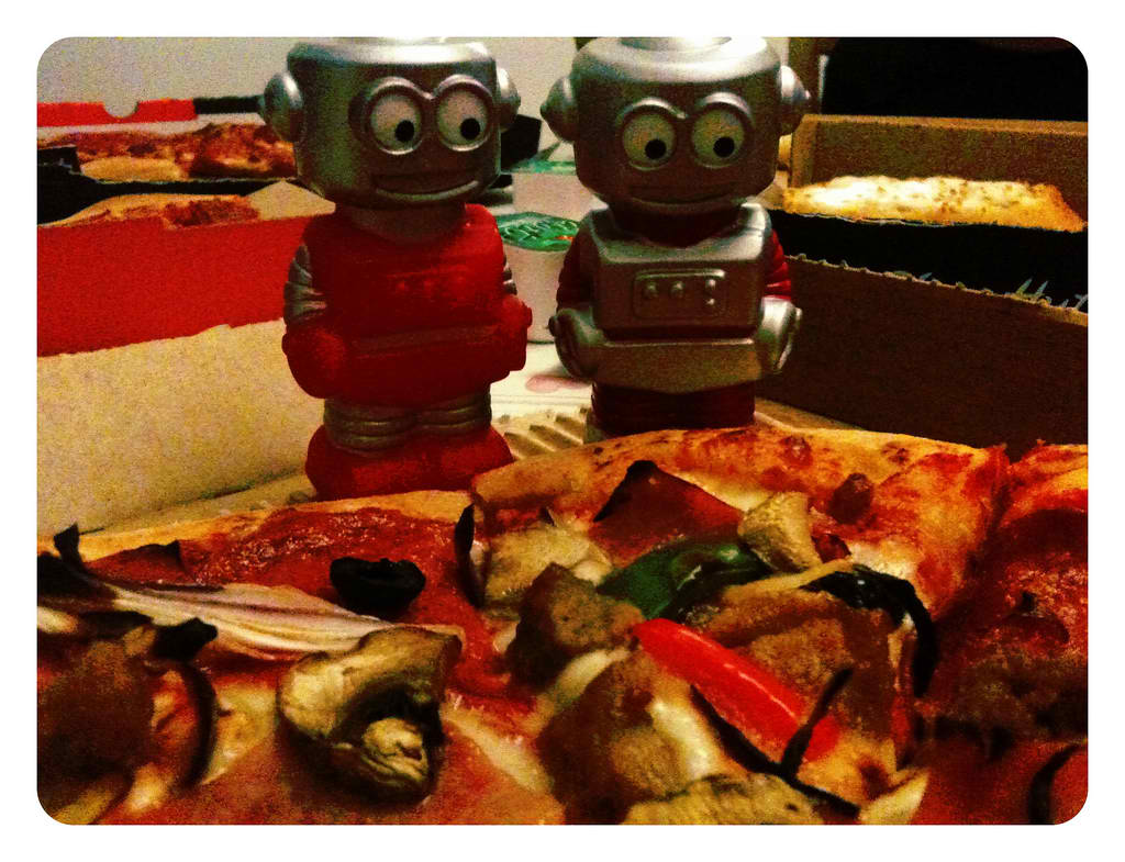 Robots will eventually take all our menial jobs. Will they take our pizza, too?