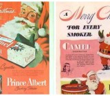 Explore vintage Santa ads of yore as he sells alcohol and cigarettes.