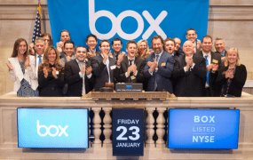 Box went public on the New York Stock Exchange on Jan. 23, 2015.