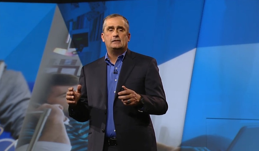 Brian Krzanich of Intel during keynote.