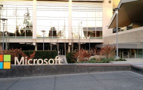 At the Microsoft campus in Redmond, Washington