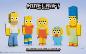 Here's what The Simpsons family looks like in Minecraft.