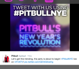A Live-Fi nGage screen of the fan portal for the Pitbull concert