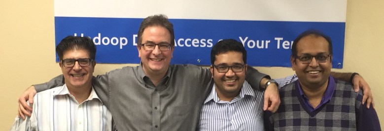 From left, BlueTalon's Stephen Shartzer, Eric Tilenius, Pratik Verma, and Rahul Shrivastava.