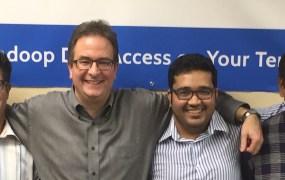From left, BlueTalon's Stephen Shartzer, Eric Tilenius, Pratik Verma, and Rahul Shrivastava.