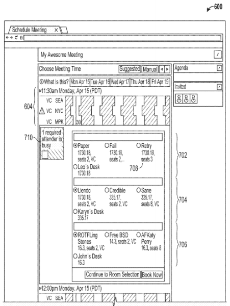 "From the Facebook patent application entitled ""Systems and methods for scheduling a meeting."""