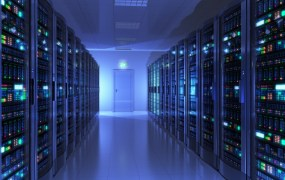 Server Room in a Data Center