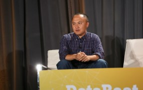 Simon Zhang speaks at VentureBeat's 2014 DataBeat conference.