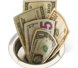 money - down drain