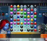 The PC version of match-three puzzle game Marvel Puzzle Quest.