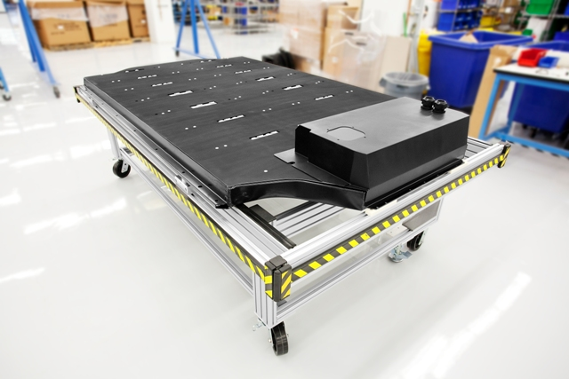 Tesla's Model S lithium ion battery pack.