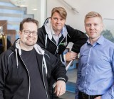 Everywear founders executive producer Markus Tuppurainen (left), CEO Aki Järvilehto, and CTO Mika Tammenkoski.