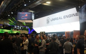 Unreal Engine's space on the GDC show floor.
