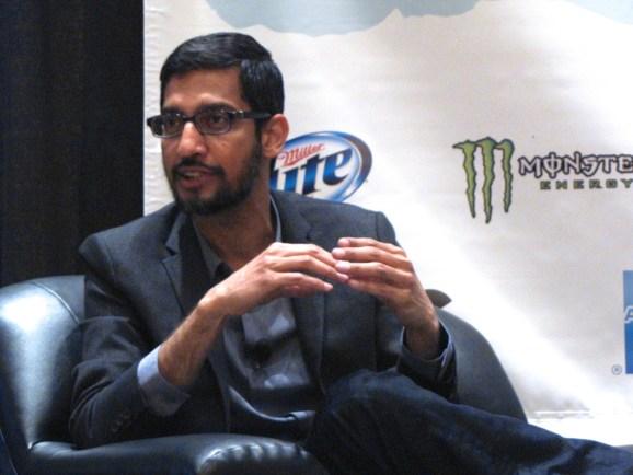 Google Android chief Sundar Pichai.