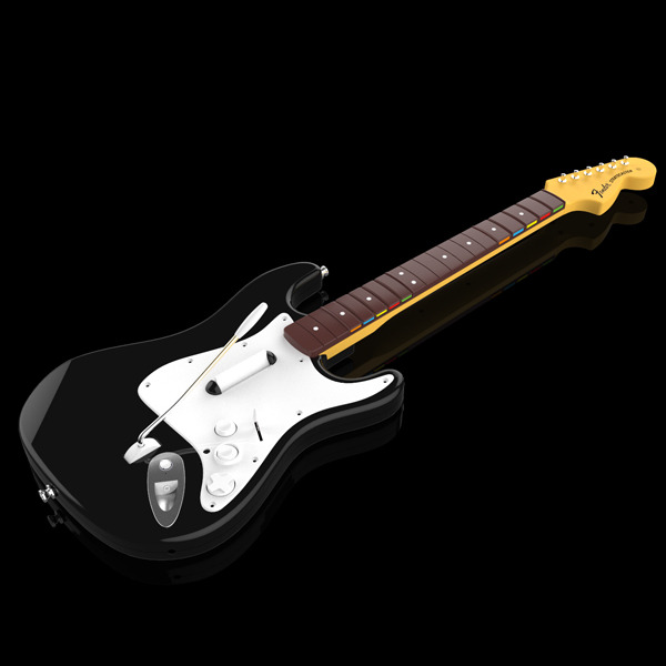 Rock Band 4's guitar controller.