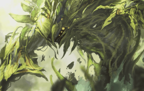 A Vengevine from Magic: The Gathering.