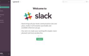 The Slack app for Mac starts up.