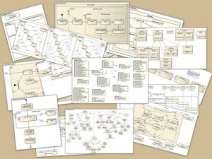 A collage of UML diagrams.