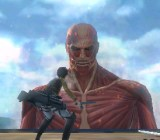 Attack on Titan has players fighting huge, skinless Titans to protect city walls.