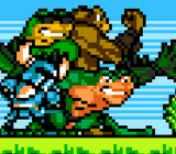 Up close with Yacht Club Games' pixel art for the Battletoads characters.