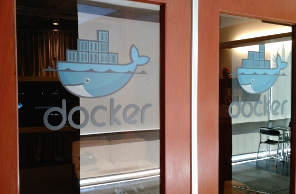 At the Docker office in San Francisco in March 2015.