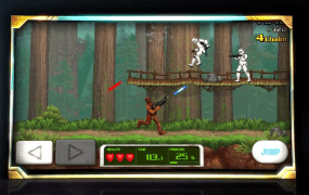 Chewie runs-and-guns just like in the old Contra games.