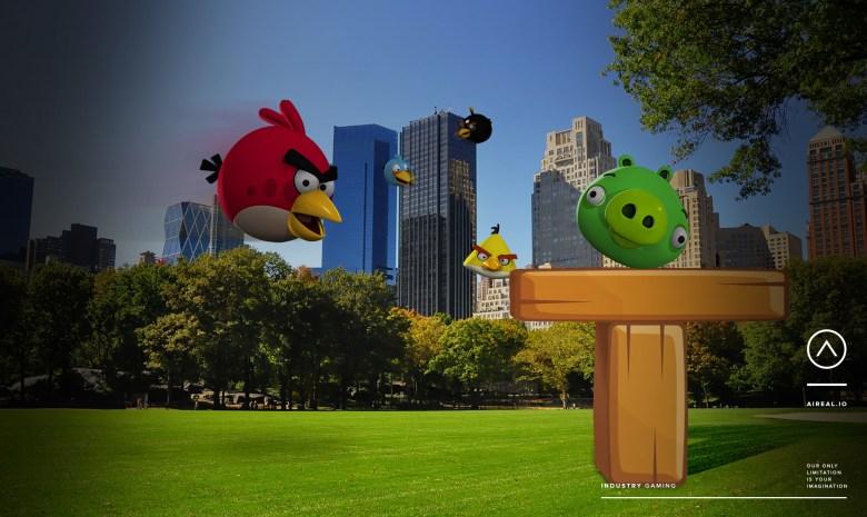 Хотите играть в Angry Birds в парке? Aireal говорит, что его технологии дополненной реальности делает это возможным.