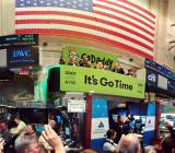 GoDaddy on the New York Stock Exchange.