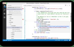 Microsoft's new Visual Studio Code editor.